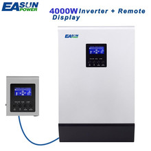 EASUN POWER 4000W Solar Inverter 80A MPPT Off Grid Inverter 48V 220V Hybrid Inverter Pure Sine Wave with a Remote controller(China)