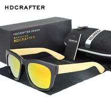 HDCRAFTER Bamboo Men Wooden glasses Women Brand Designer Original Wood Sunglasses fo Women/Men Oculos de sol masculin(China)