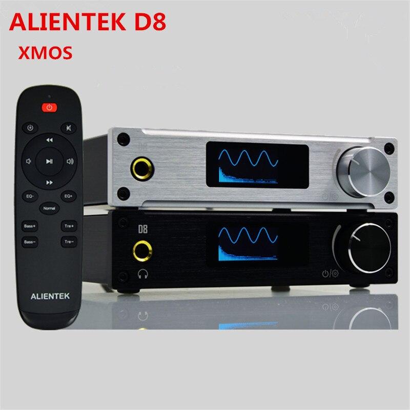 XMOS ALIENTEK D8 Class d Amplifier DAC 80W*2 Coaxial/Optical/USB Mini HiFi Stereo Audio Digital Headphone Amplifier+Power Supply<br><br>Aliexpress