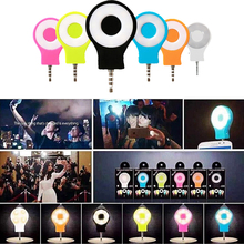 Mini 8 LED Spotlight Camera Selfie  Flash Light 3.5mm Jack For iPhone Android Devices for External Flash Fill Selfie Light