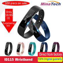 ID115 Smart Bracelet Fitness Tracker Step Counter Activity Monitor Band Alarm Clock Vibration Wristband for IOS Android phone(China)
