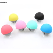 Cute Mushroom Mini Ornaments Wireless Bluetooth Speaker Sucker Cup Audio Receiver Music Stereo Subwoofer USB For Android IOS PC(China)