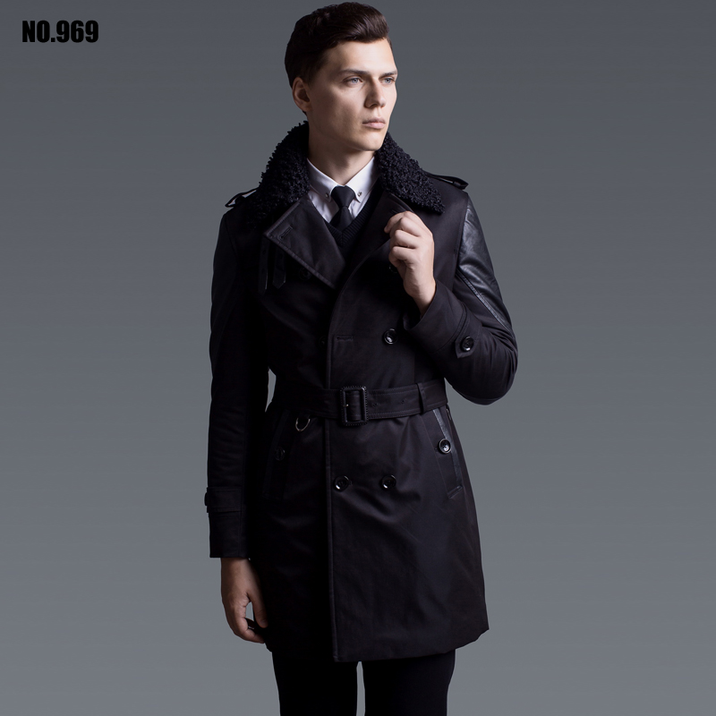 Male medium long wadded jacket thermal 2016 thick outerwear cotton padded coat fashion fur collar patchwork parkas mens peacoatОдежда и ак�е��уары<br><br><br>Aliexpress