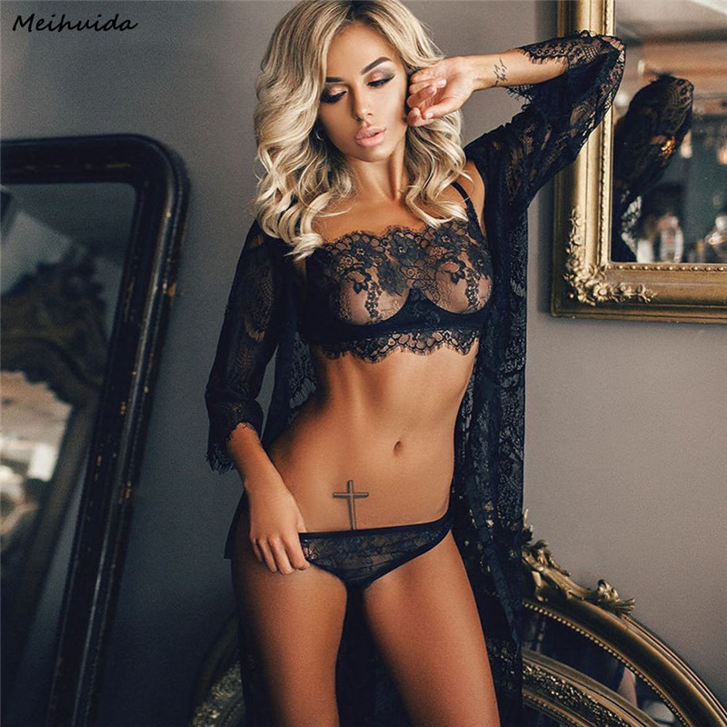 Sexy Lingerie Erotic Lace Babydoll Pajamas Exotic Wrapped Chest Open Bra Underwear Suit Porn Maid Costumes Sexo Chemise