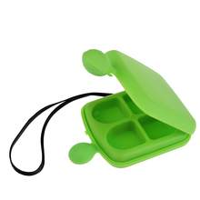 Hot Sale Tiny Portable 4 Cells Storage Pill Box Case Organizer for Pills Jewelry Gems With Ribbon BS