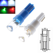 300PCS Warning Indicator Lights T5 LED Bulbs with Wedge Base for Dashboards (Gauge bulbs) White Blue Amber Green Red Mix Colors