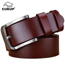 Buy CUKUP Pure Luxury Cowhide Leather Belts Men Simple Pin Buckle Male Casual Styles Jeans Belts 38mm Width NCK607 for $29.64 in AliExpress store