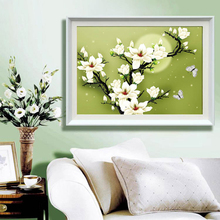Fashion 3D Hand Stitch Precision printing Orchid Cross stitch Painting For Embroidery Kits Cross-Stitching High Quality