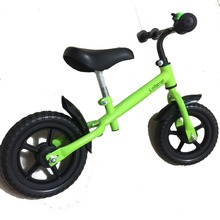 New 12 Inch Striders Balance Bike Carbon fibre Wheel Red Blue Yellow Pink Green Kid Bicycle High Quality Steel Frame(China)