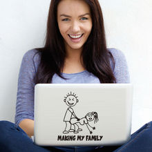 Making My Family Computer Stickers Creative Pattern Cartoon Laptop Stickers Vinyl Adhesive Car Styling