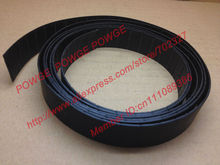 POWGE 15Meters P2 Flat belt P2-70 Width 70mm thickness 2mm PU Color Black polyurethane with Steel Chip baseband conveyer belt(China)