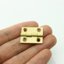 Pure Brass 1 inch Mini Cabinet Drawer Butt Hinge brass small hinge 4 small hole DIY hardware