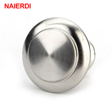 10PCS NAIERDI Zinc Alloy Handles Satin Nickel Cabinet Pull Cupboard Drawer Knobs Wardrobe Handle With Screw Furniture Hardware