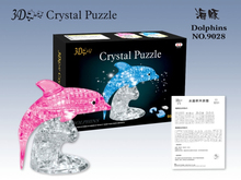 Candice guo! New arrival hot sale plastic toy 3D crystal puzzle dolphin model funny game creative gift 1pc