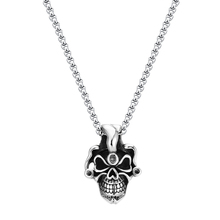 ZMZY Gothic Vintage New Biker Stainless Steel Skeleton Head Skull Pendants Necklaces for Men Jewelry
