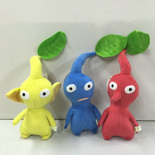 "Pikmin Game Toy Plush doll home Decor toy stuffed plush doll toy  Red Blue Yellow Leaf 7"" 18cm"