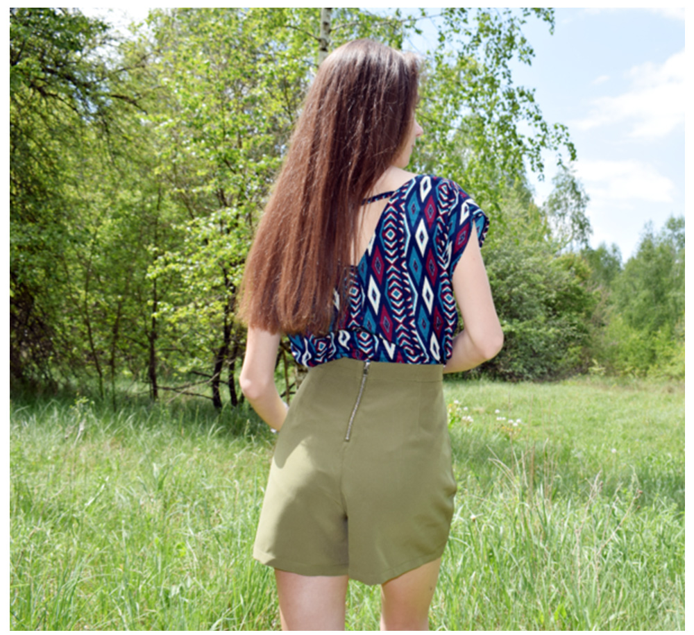 PK green shorts women feminino army plus size summer beach green shorts feminino fashion zipper beach summer girls shorts women 3