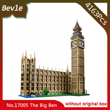 Bevle Store LEPIN 17005 4163pcs Street View Series London Big Ben Model Building Blocks Bricks For Children Toys 10253 Gift(China)