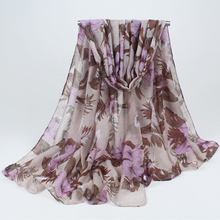 New Fashion women winter and autumn scarves flowers print voile scarf big size soft woman scarf shawl BLS017