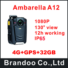 4G+GPS+32GB Small Size Portable Body Worn Camera For Police