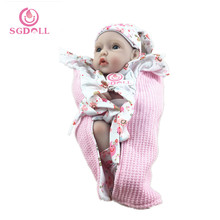 "26cm/11"" Lively Vivid Girl Newborn Infant Reborn Baby Dolls Silicone Vinyl Baby Gift Toys Collection 3138(China)"