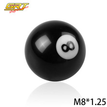 GRT - Black 8 Ball Model 52mm Acrylic Racing Auto M18x1.25 Gear Shift Knob for Manual Short Throw Gear Shifter