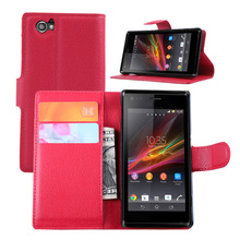 Cheap Luxury Fundas Capas Para For Sony Xperia M C1905 C1904 Phone Case Stand Wallet Leather Flip Cover Bags Skin For Xperia M(China)