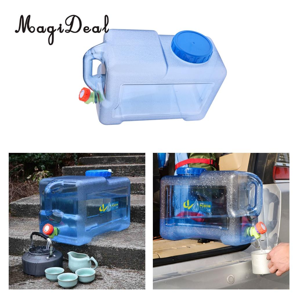12L Outdoor Camping Hiking Travel Car Water Bucket Water Carrier Canister