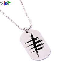 DroidHaunt Game Dead by Daylight Necklace Stainless Steel Round Bead Chain Pendant Dog Tag Chain Necklace Men Jewelry Fans Gift