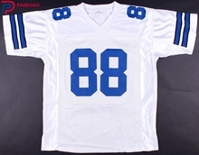 Embroidered Logo Michael Irvin white throwback high school FOOTBALL JERSEY for fans 1224-5(China)