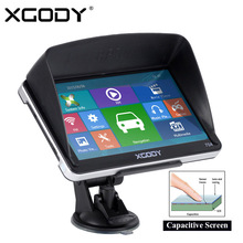 XGODY 704 7 inch Bluetooth Car Truck GPS Navigation 128M RAM 8GB ROM Sat Nav Navigator Europe Ukraine Navitel Russia Free Maps(China)