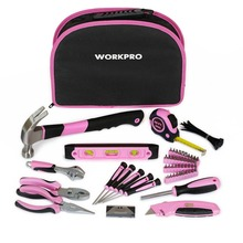 Mother's Day Gift 103PC Ladies Tools Pink Tool Set Home Tool Kits Hammers Pliers Saws Screwdrivers Wrenches Tapes