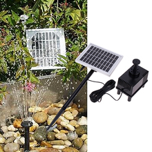 10V/2W Solar Panel Power Submersible Pump Landscape Pool Garden Fountains Decorative Brushless DC Water Pump 220L / h