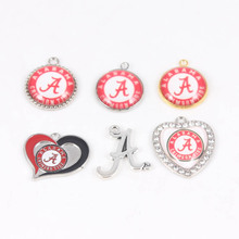 Buy 10 Styles Enamel Charms College Alabama Crimson Tide Dangle Charms Fashion DIY Sport Jewelry 10pcs/lot for $5.40 in AliExpress store