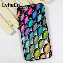 LvheCn phone case cover fit for iPhone 4 4s 5 5s 5c SE 6 6s 7 8 plus X ipod touch 4 5 6 Eye Shadow Palette Makeup(China)