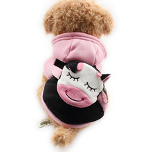 Armi store Cow head Purse Design Spring Autumn Dog Hoodies Cat Dogs Pink Hat Hoodiess 6141036 Pet Clothes Supplies
