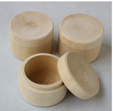 1pcs Small Round Wooden Storage Boxes Ring Box Vintage decorative Natural Craft Jewelry box Case Wedding Accessories