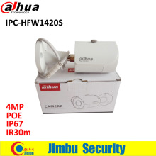 Original DAHUA 4MP IP camera IPC-HFW1420S upgrade from IPC-HFW1320S Bullet IR 30M Waterproof full HD POE CCTV Network camera