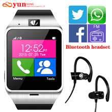 2017  GV18 Plus Smart watch phone GSM NFC FM Camera wrist Watch SIM card Smartwatch for Samsung Android Phone PK DZ09