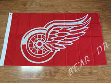 Detroit Red Wings flag US flag 100D Polyester free shipping activities Decoration