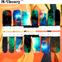 M-Theory Full Nails Wraps Stickers Nova Galaxy 3D Nail Arts Polish Sticker Gel varnish Decals Decorations Manicure Makeup Tools
