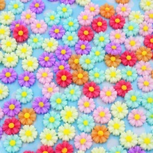 200pcs/lot DIY flat back resin flowers mix colors 9mm resin cabochons accessories
