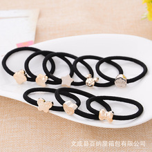 1 Pic women hair accessories Alloy ring style elastic hair bands for women Heavy metal bands rubber bands headwear