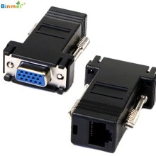 Hot Sale Superior Quality New VGA Extender Female To Lan Cat5 Cat5e RJ45 Ethernet Female Adapter AU30