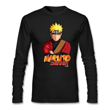 Spring Men Naruto Samin T Shirt 90s Custom Tops Naruto mi tee shirt Fabic Cotton Long Sleeve Blusa For Big Boy(China)