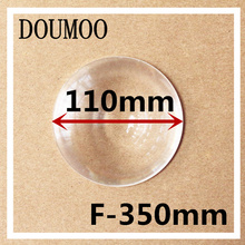 1 pcs Round Optical PMMA Plastic Car Parking Wide Angle Fresnel Lens Large Diameter 110 mm Focal Length -350mm Minifier Lens(China)