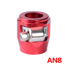 AN 8 APS Alloy/Aluminium JIC - Fuel/Oil/Radiator/Rubber Fuel Oil Water Pipe JUBILEE Clip Clamp 8-AN Red Hose Finisher Clamp/Clip(China)