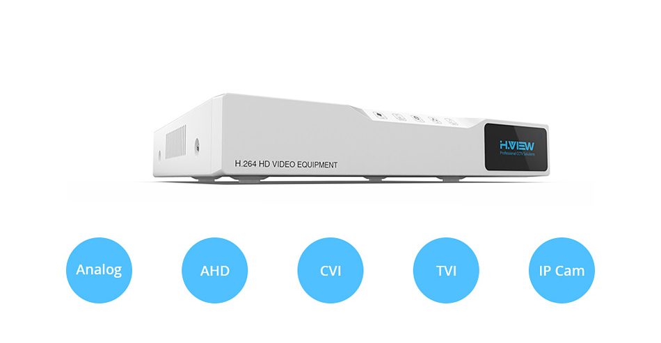H.VIEW AHD DVR 8ch 4ch Recorder Surveillance 1TB HDD AHD DVR 8ch 4ch Recorder Surveillance for Analog TVI CVI IP Camera (1)