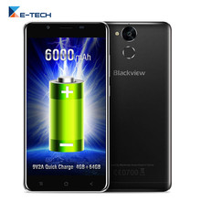 "Blackview P2 Smartphone 5.5"" FHD MT6750T Octa core 6000mAh Android 6.0 4GB RAM 64GB ROM 13MP 4G LTE FingerPrint ID Cell phone"
