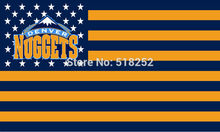 Denver Nuggets Flag010 US star and stripe 3x5 FT 150X90CM Banner 100D Polyester flag 123, free shipping(China)